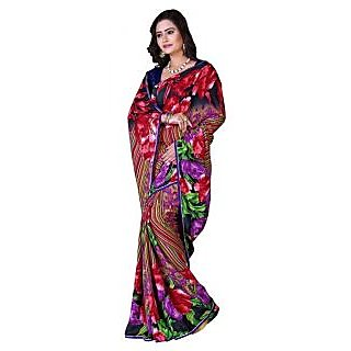 Parisha Multicolor Brocade Self Design Saree With Blouse