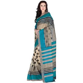 Parisha Multicolor Linen Self Design Saree With Blouse