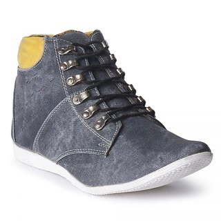Touchfoot New Mount Denim Laces Black Ankle Shoe