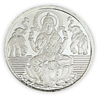 Chahat Jewellers 10gms Silver Lakshmi Coin