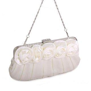 Rose Party Clutch Bag Banquet Handbag Dress Wedding Bag - Beige