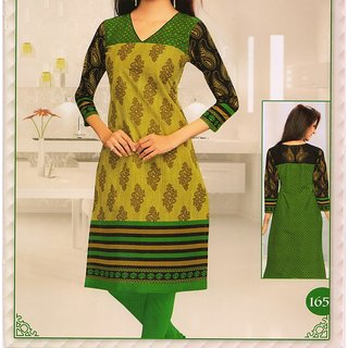 S Redish cloth for 1 unstiched kurti + 1 Readymade cotton Legging (Unstitched)