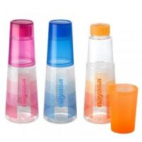 Water Bottle With Tumbler(set Of 3)/1 Ltr