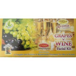 Aroma Herbal Grapes & Wine Facial Kit