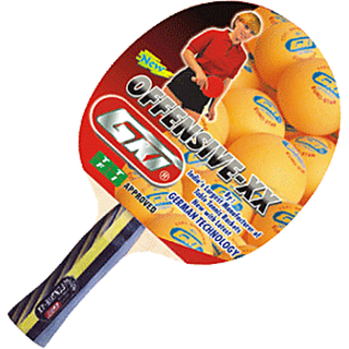 GKI Offensive XX Table Tennis Racquet with Wooden Case & Tetron Cover at Lowest price