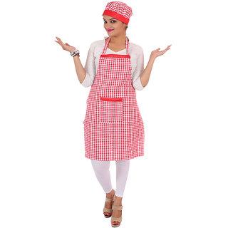 Kitchen cotton apron in checks
