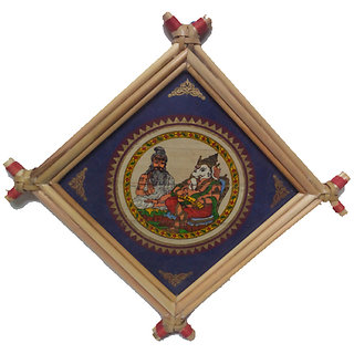 Patachitra Palm leaf - Valmiki Ganesha