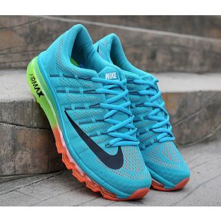609d7deb22c Nike Shoes 2015 and Nike Air Max 2016 Sky Blue  Orange Mens Running Shoes!!!