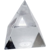 Starstell Crystal Eye Pyramid For Success Showpiece - 3.5 Cm