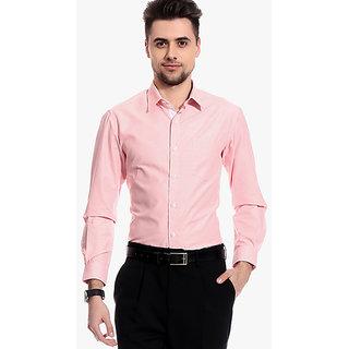 Club Avis USA Pink Slim Fit Formal Shirt