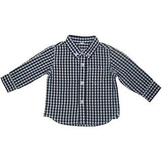 Boys Long Sleeve Shirt In Blue White Checks