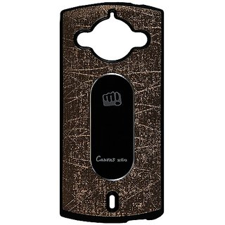 Casotec Metal Back Tpu Back Case Cover For Micromax Canvas Selfie A255 - Brown