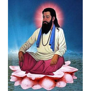 beautiful painting of guru ravidas ji