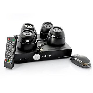 Night Vision Dome Camera With Four Channel DVR