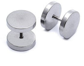 The Jewelbox  Plated Silver Surgical Stainless Steel Pair Earring