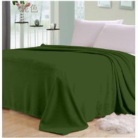 Elegance Green Plain Single AC Blanket (Plain4)