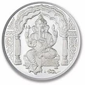 Chahat Jewellers 5Gms Silver Ganesha Coin