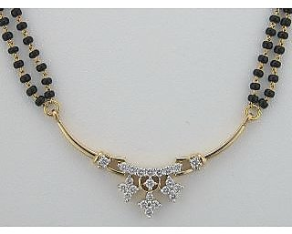 Avsar Real Gold And Diamond Fancy Marriage Mangalsutra # Avn006