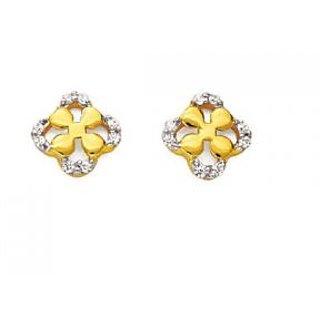 Ag Real Diamond Traditional Shape Earring # Agse0124