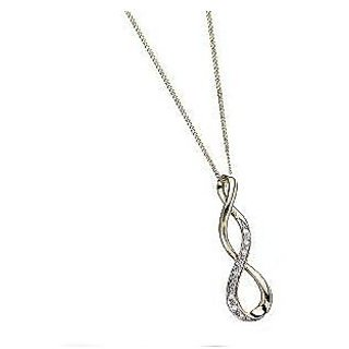 Ag Real Diamond Fashion Curve Pendant # Agsp0006