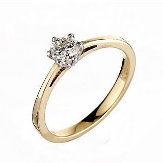 Ag Real Diamond Solitaire Diamond Fancy Ring # Agsr0005