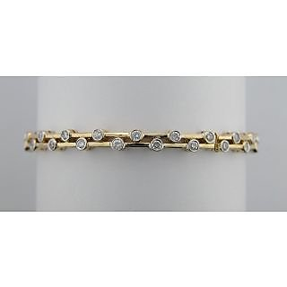 Avsar Real Gold And Diamond 1.28Ct. Fancy Bangle #  Avb042