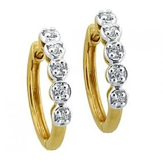 Avsar Real Gold And Diamond  Bali Shape Earrings # Ave0134