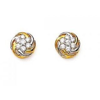 Avsar Real Gold And Diamond Fashionable Nakshatra Earring # Ave071