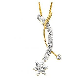 Bling Diamond Accessories Daily Wear The End Star Pendant Hand Made With Real Gold And Diamonds Bgp047