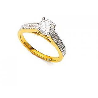 Unique Solitaire Diamond Bride And Groom Diamond Wedding Ring Uqr025