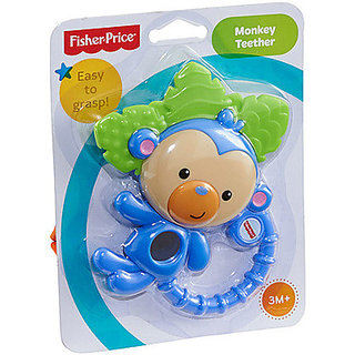 Fisher-Price Monkey Teether Rattle (Multicolor)