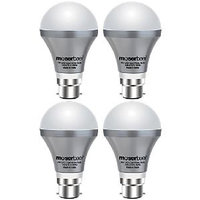 Moser Baer 7W LED Cool White Bulb PACK of 4