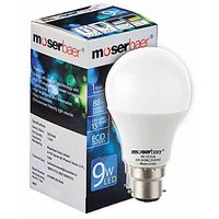 Moserbaer 9w Cool White Led Bulb pack Of 6 Bulb