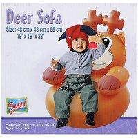 Suzi Deer Horse Inflatable Sofa (Brown)