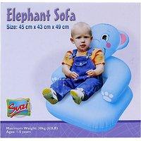 Suzi Elephant Inflatable Sofa (Blue)