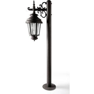 Fos Lighting Old World Charm Bollard Black Crinkle