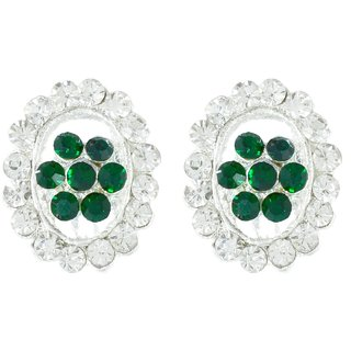 Suvini  Stunning Oval Shaped Stud Earrings