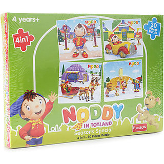 Funskool Noddy 4 in 1 Seasons Special Puzzle (30 Pieces)