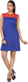 Klick2Style Blue Plain Bodycon Dresses For Women