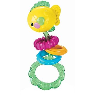 Fisher-Price Ocean Wonders Dumbell Rattle - Fish