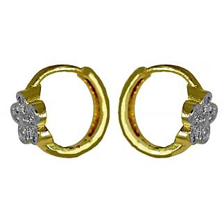 Suvini Stylish Hoop Earring Adorned with Shiny American Diamonds