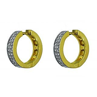 Suvini Hoop Earring Adorned with Shiny American Diamonds