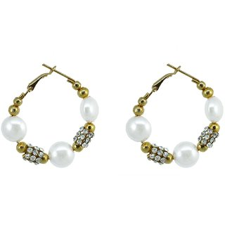 Suvini Ethnic Gold Toned Hoops