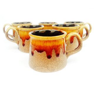 Jocular Stylish Textured Tea Cups Set Of-6 1843