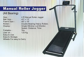 Manual Roller Jogger 4 Ft With Roller Bearing For home / club usage