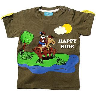 JusCubs Happy Ride Stripper Brown Tee