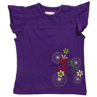 JusCubs Circular Flowers Purple Top