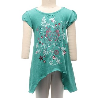 JusCubs Butterfly Embelishment Turquoise Top
