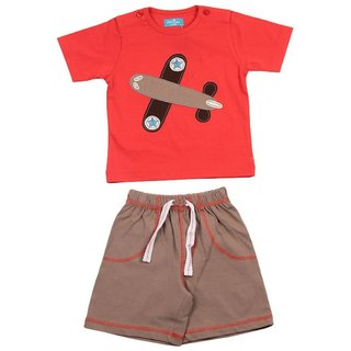 JusCubs Fly High Red Tee With Shorts