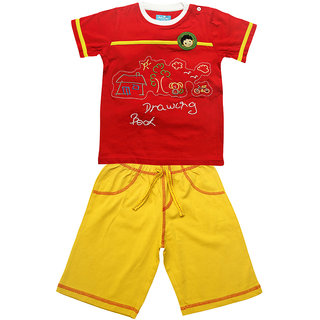 JusCubs Embroided Envelope T-Shirt With Shorts